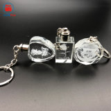 Diseño personalizado de Cristal de luz LED llavero
