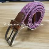 Lisa plana hebilla de aleación de hilo de color rosa correa correa trenzada