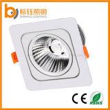 La fábrica AC85-265V 90lm/W de RoHS del Ce del fabricante se dirige la lámpara ahuecada 10W de interior del techo LED del cuadrado de la MAZORCA de la iluminación