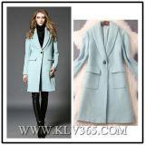 Venta al por mayor larga de la rebeca de la capa de la manera de las mujeres de las lanas europeas del invierno