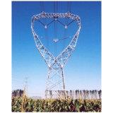 Горячая окунутая гальванизированная башня передачи силы равного ангела стальная