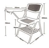 熱い販売の最もよい品質Zd15Aのプラスチック折りたたみ椅子