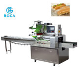 Machine de conditionnement horizontale automatique de flux de pain de pizza de hot dog