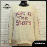 여자 편지 백색 온난한 겨울 스웨터