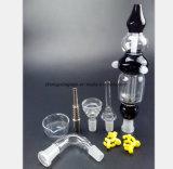 Schwarzes, weißes, transparentes Blumen-Ansammlungs-Sammler-Rauch-Rohr
