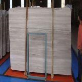 Белый деревянный мрамор вены для настила/стены