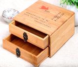 대나무 차 저장 서랍 상자