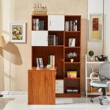 2018 couleur bois bureau informatique avec cabinet de livre
