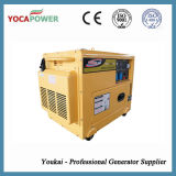 комплект генератора малой силы двигателя дизеля 5kVA электрический молчком тепловозный