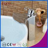 Grand robinet de bassin de chute d'eau de salle de bains de robinet de mélangeur de chute d'eau de bec de Fyeer