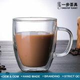 熱い販売のガラス茶コーヒーミルクジュースのコップ