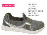 Chaussures grises de patin de gosses de couleurs