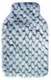 Coperchio di lusso della pelliccia di disegno caldo del cuore per la bottiglia di acqua calda