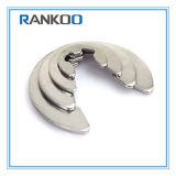 Grampo de retenção do anel de retenção da forma do aço inoxidável E para o eixo