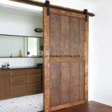 Portas de madeira de moda moderno design da porta de entrada único painel de pranchas de pinho nodoso Larch Alder