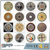 Medaglione di marmo del mosaico della pietra del pavimento per la decorazione del pavimento in nero/in rosso/in beige/bianco/colore del Brown