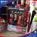 アクリルの口紅の表示を回す中国の製造業者のピンクカラー
