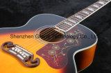 Guitarra acústica superior sólida del arce de la llama del tigre J200 (J200)