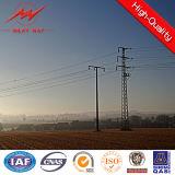 Energía eléctrica de acero eléctrica postes de poste con los accesorios de la potencia