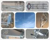 Guyed 강철 통신 탑의 둘레에 직류 전기를 통하는