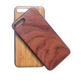 Caja protectora de madera del teléfono móvil de la goma TPU para el iPhone 8 más