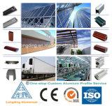 Profils en aluminium d'extrusion pour l'obturateur en aluminium d'aluminium de portes de roulement