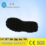 Pattini di sicurezza del cuoio genuino della mascherina d'acciaio e del piatto d'acciaio