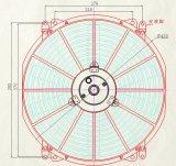Ventilador del coche del ventilador del condensador de la pulgada 12V/24V del automóvil 16