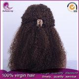 Parrucca indiana del merletto della parte anteriore dei capelli del Virgin di colore riccio del Brown di Afro