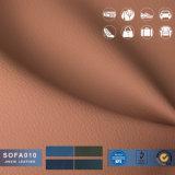 Novo design do tecido em couro artificial para mobiliário de couro de PVC / Sofá