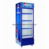 Energy Drink transparente uma Porta Bebidas frias de refrigeração vertical 450L