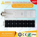 De hete OpenluchtVerlichting van de ZonneMacht van de Sensoren van de Motie van de Verkoop allen in Één Slimme LEIDENE van de Lamp van het Zonnepaneel ZonneStraatlantaarn