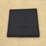 O mais barato Black Square PU Leather Coaster with Brand Logo