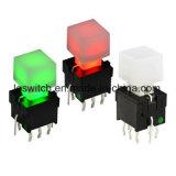 Puissance PCB Tact momentanée de l'Interrupteur bouton poussoir lumineux
