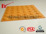 Advertencia antideslizante de caucho exterior acera mosaico táctiles