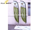 bandeira de praia de alumínio da impressão de Digitas do Tradeshow de 3.4m/bandeira da pena/bandeira do vôo