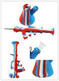 precio de fábrica Hookah AK47 de silicona de colores el hábito de fumar los tubos de agua con el tazón de vidrio.