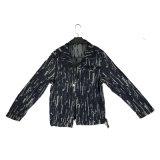 Cor preta jaqueta masculina sarja de algodão fina