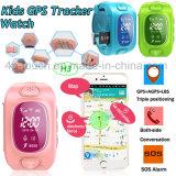 Montre de vente chaude de traqueur des gosses GPS avec le H3 de position de Tirple