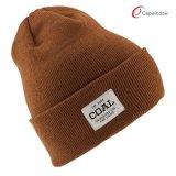 100% material acrílico Fashion Beanie Hat chapéu de Inverno com tecidos de patch (65050099)
