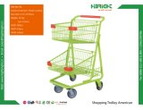 Supermarket Metal Plated Shopping Cart Trolley