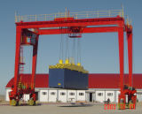 Grue de portique modèle de conteneur de poutre de Rtg double