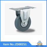 Fixe Roulette industrielle en caoutchouc gris
