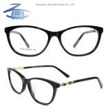 Meilleur coloré de gros de la Chine mode féminine de la courroie d'acétate de foret personnalisé Diamond Eye glasses Frame