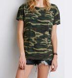 De in het groot Kleding van de T-shirt van de Camouflage voor Dame