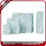 Черный и белый Венской покупателей тканью бумажный мешок подарочный пакет роскошных магазинов мешок мешки для окружающей среды