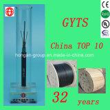 GYTS cable óptico trenzado al aire libre de la fibra multimodo de la base 4 con el tubo flojo para la antena