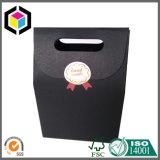 Gable Top Black Paper Gift Packing Bag com fita mágica Close