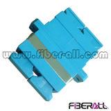 Sc Sm Adaptador de fibra óptica dúplex color azul de plástico