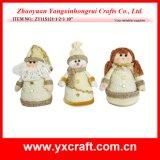Décoration de Noël (ZY11S121-1-2-3 10 '') Santa & Snowman & Ange
